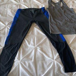 Zella leggings and Reebok tank